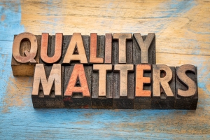 quality matters word abstract